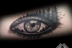 Tatuaje ojo bosque